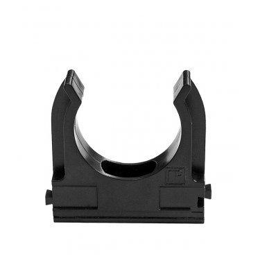 Крепеж-клипса для труб 40 мм Промрукав черная (15 шт.)