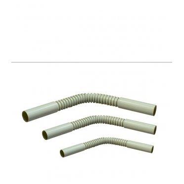 Поворот гофрированный для труб 25 мм Промрукав гибкий серый (20 шт.)