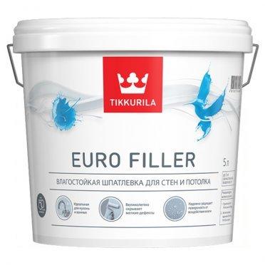 Шпатлевка влагостойкая Tikkurila EURO FILLER 5 л