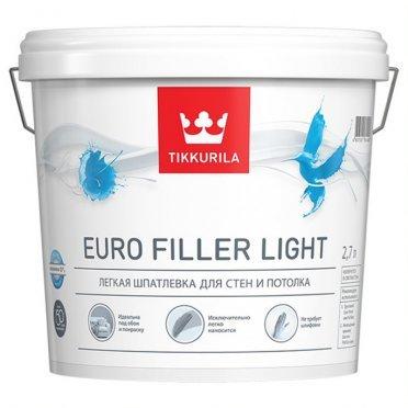 Шпатлевка легкая Tikkurila EURO FILLER LIGHT KTA 2,7 л