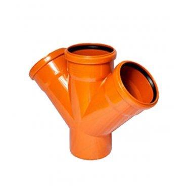 Крестовина одноплоскостная для наружной канализации 110x110x110/46 PP