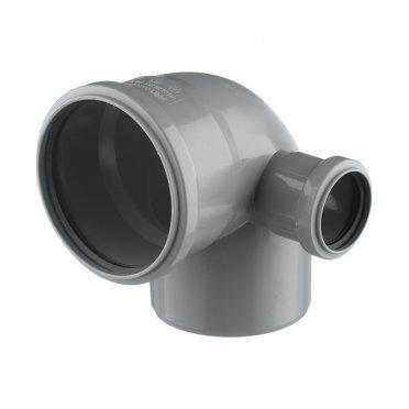 Отвод внутренний 110 мм с выходом 87° х 50 правый