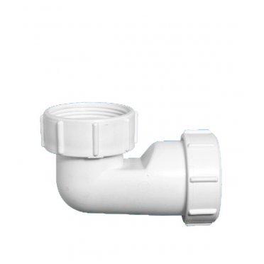 Отвод McAlpine 90° 40 мм низкий компрессионный с накидной гайкой