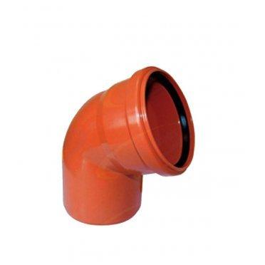Отвод для наружной канализации 110х68 PP