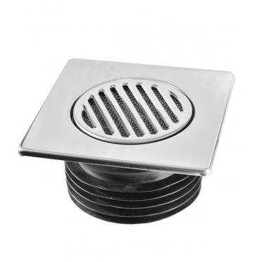 Трап 110 с сухим затвором и металлической нержавеющей решёткой 150ммх150мм McALPINE