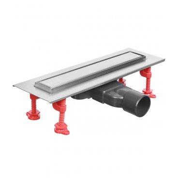 Трап линейный с сухим затвором и сифоном Слим решетка 300 мм