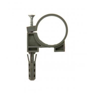 Хомут сантехнический 50 мм пластик с дюбелем для крепления трубы (2 шт.)