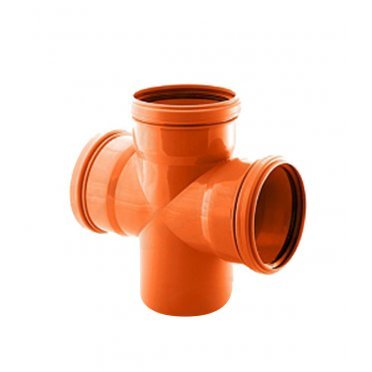 Крестовина одноплоскостная для наружной канализации 110x110x110/87,6 PP