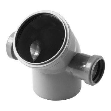 Отвод Polytron Comfort d110х50 мм 45° универсальный