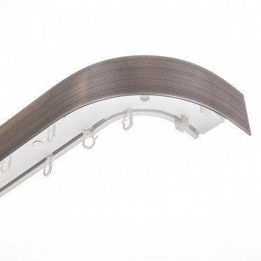 Карниз потолочный пластмассовый двухрядный с блендой 300 см серебро патина