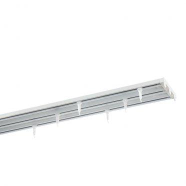 Карниз потолочный алюминиевый трехрядный 160 см белый