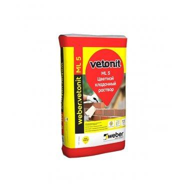Смесь кладочная Ветонит МЛ 5 Менес светло-желтый 157 25 кг