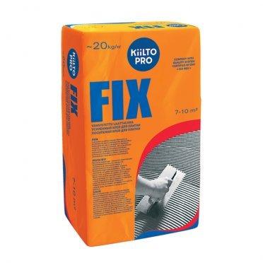 Клей для плитки и керамогранита Kiilto Fix серый (класс С1) 20 кг