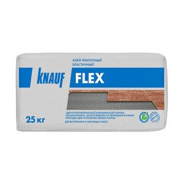 Клей для плитки, керамогранита и камня Knauf Флекс эластичный серый (класс С2) 25 кг