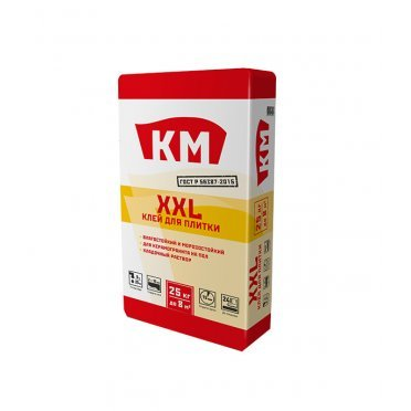 Клей для плитки КМ ХХL серый (класс С0) 25 кг