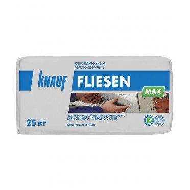 Клей для плитки и керамогранита Knauf Флизен Макс толстослойный серый (класс С1) 25 кг