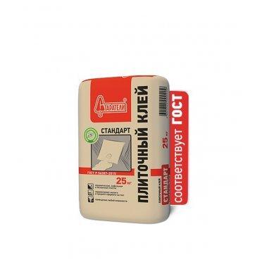 Клей для плитки Старатели Стандарт серый (класс С0) 25 кг