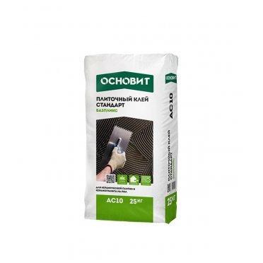 Клей для плитки Основит Базпликс AC10 серый (класс С0) 25 кг