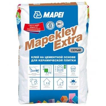 Клей для плитки и мозаики Mapei Mapekley Extra серый (класс С1) 25 кг