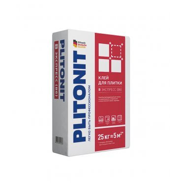 Клей для плитки и камня Plitonit В экспресс Вб быстротвердеющий серый (класс С1) 25 кг