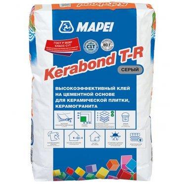 Клей для плитки, керамогранита и мозаики Mapei Kerabond T-R серый (класс С1) 25 кг