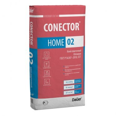 Клей для плитки DAUER Conector Home 02 оптимум серый (класс С0) 25 кг
