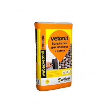 Клей для плитки, керамогранита, мозаики и камня Weber.vetonit Мозаик белый (класс С1) 25 кг