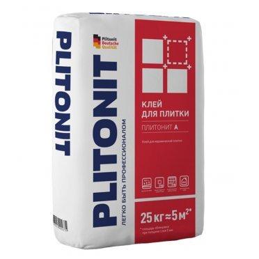 Клей для плитки Plitonit А универсальный серый (класс С0) 25 кг
