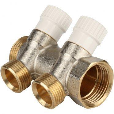 Коллектор Stout (SMB 6851 013402) 1 ВР(г) х 2 выхода 3/4 НР(ш) ЕК х 1 НР(ш)
