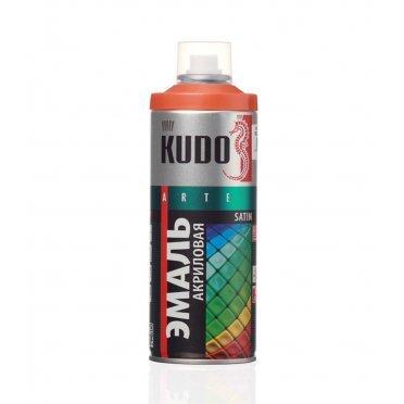 Эмаль аэрозольная Kudo Satin оранжевая полуматовая RAL 2001 520 мл