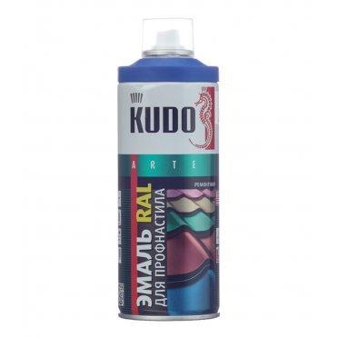Эмаль для металлочерепицы аэрозольная Kudo сигнально синий полуматовая RAL 5005 520 мл