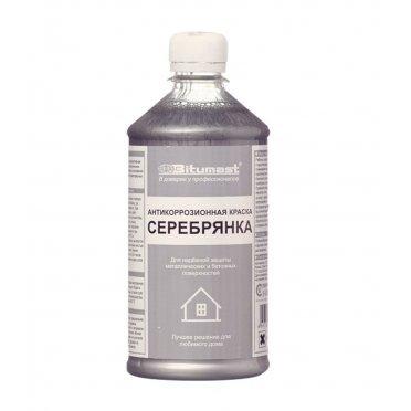 Краска антикоррозионная Bitumast Серебрянка глянцевая 0,5 л