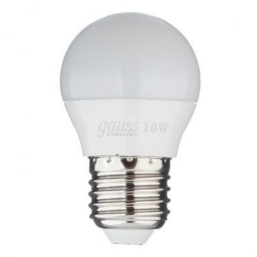 Лампа светодиодная Gauss Elementary 10 Вт E27 шар 4100 К дневной свет 180-240 В матовая