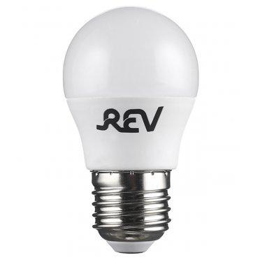 Лампа светодиодная REV 5 Вт E27 шар G45 2700 К теплый свет 230 В матовая