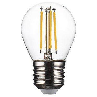 Лампа светодиодная REV 5 Вт E27 филаментная шар G45 2700 К теплый свет 230 В прозрачная