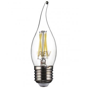 Лампа светодиодная REV 5 Вт E27 филаментная свеча на ветру FC37 4000 К дневной свет 230 В прозрачная