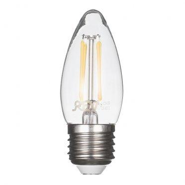 Лампа светодиодная REV 7 Вт E27 филаментная свеча С37 2700 К теплый свет 230 В прозрачная