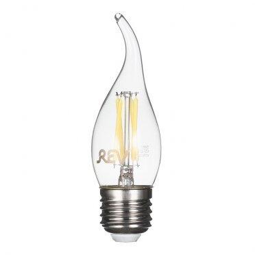 Лампа светодиодная REV 7 Вт E27 филаментная свеча на ветру FC37 4000 К дневной свет 230 В прозрачная