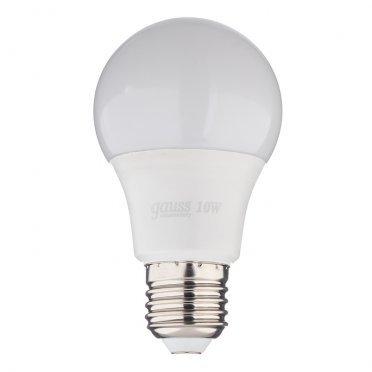 Лампа светодиодная Gauss Elementary 10 Вт E27 груша A60 6500 К холодный свет 180-240 В матовая