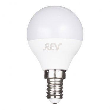Лампа светодиодная REV 9 Вт E14 шар G45 2700 К теплый свет 230 В матовая