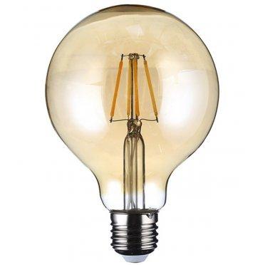 Лампа светодиодная REV 7 Вт E27 филаментная шар G95 2700 К теплый свет 230 В прозрачная