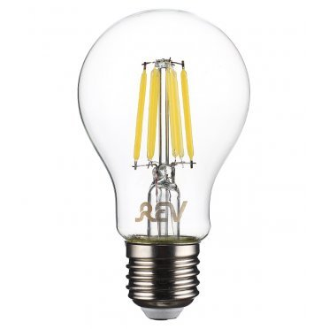 Лампа светодиодная REV 9 Вт E27 филаментная груша A60 4000 К дневной свет 230 В прозрачная
