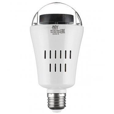 Лампа светодиодная REV Disco 4 Вт E27 груша 230 В прозрачная проекционная 4 сменных модуля RGB