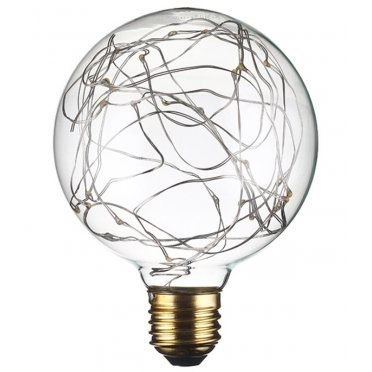 Лампа светодиодная REV VINTAGE 2 Вт E27 шар G95 2700 К теплый свет 230 В прозрачная декоративная