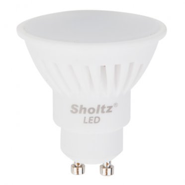 Лампа светодиодная Sholtz 11 Вт GU10 рефлектор MR16 4000 К дневной свет 220-240 В керамика/пластик