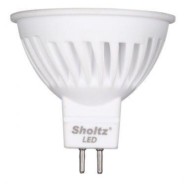 Лампа светодиодная Sholtz 11 Вт GU5.3 рефлектор MR16 2700 К теплый свет 220-240 В керамика/пластик