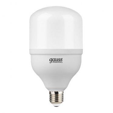 Лампа светодиодная Gauss Elementary 32 Вт E27 цилиндр T100 4000 К белый свет 180-240 В матовая