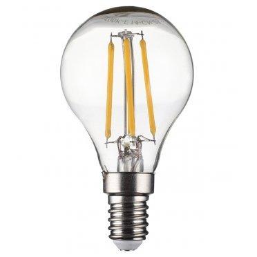 Лампа светодиодная 5 Вт E14 филаментная шар G45 2700 К теплый свет 230 В