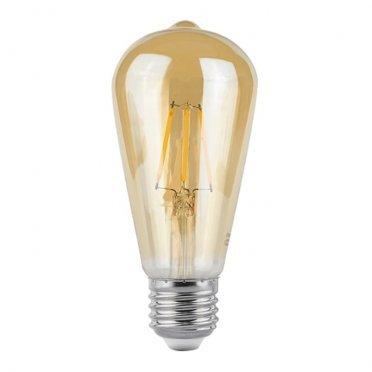 Лампа светодиодная Gauss Filament 6 Вт E27 филаментная луковица ST64 2400 К теплый свет 150-265 В прозрачная (10 шт.)
