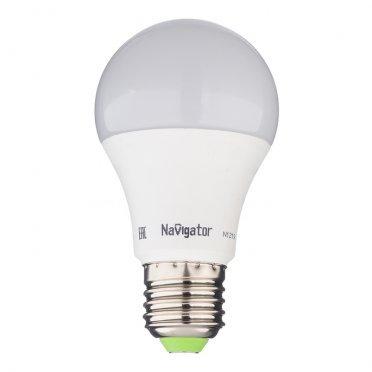 Лампа светодиодная Navigator 10 Вт E27 груша A60 2700 К теплый свет 230 В матовая диммируемая